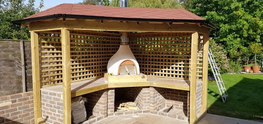 Wood Oven in the Gardening